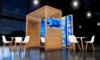 customized wood kiosk
